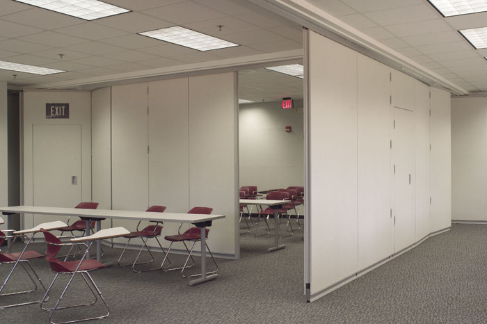 Continuously Hinged Partitions Movable Wall Systems